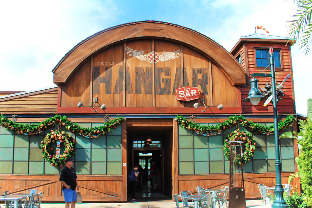 Jock Lindsey's Hangar Bar in Disney Springs at Walt Disney World, one of our stops on the Disney World Resort Bar Crawl!