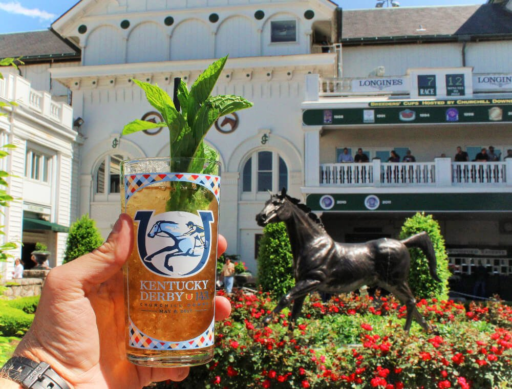 A Mint Julep at Churchill Downs in Louisville, Kentucky.
