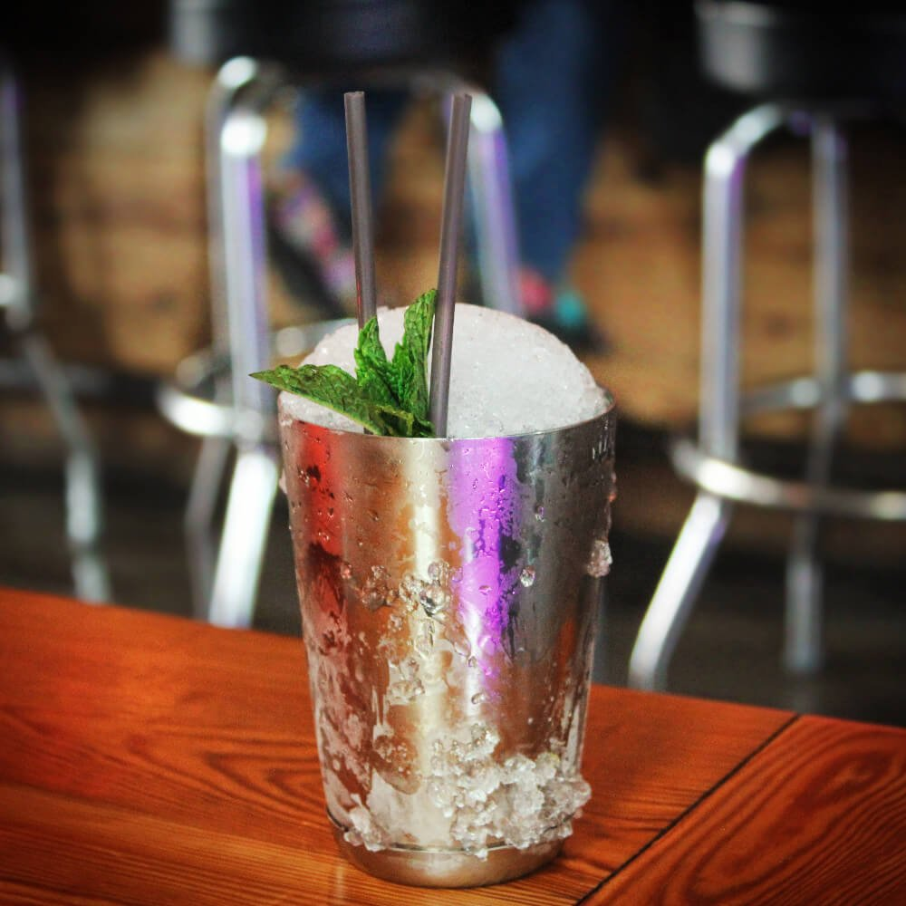 You can't go to Louisville and not get a Mint Julep, or 2, or 3. The real deal is served in a Mint Julep cup, like this one, which we got along with our brunch at Silver Dollar on Frankfort Avenue in the Clifton neighborhood of Louisville, Kentucky.