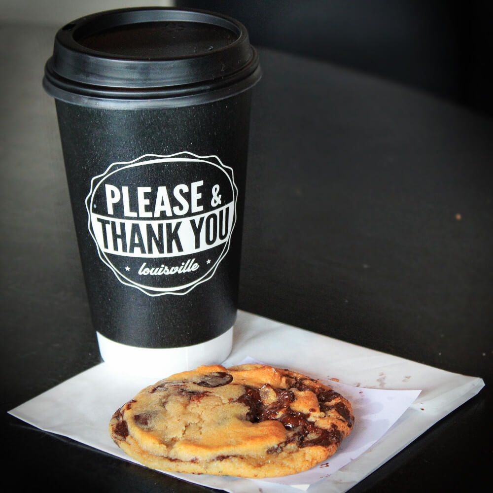 Please & Thank You serves the best chocolate chip cookie in Louisville. As a bonus, they also serve some of the best coffee in Louisville, too.