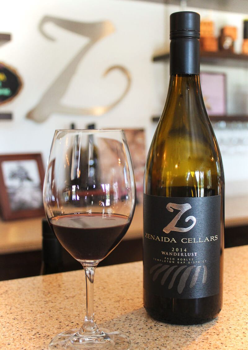 Wanderlust Wine at Zenaida Cellars, a winery in in Paso Robles, California