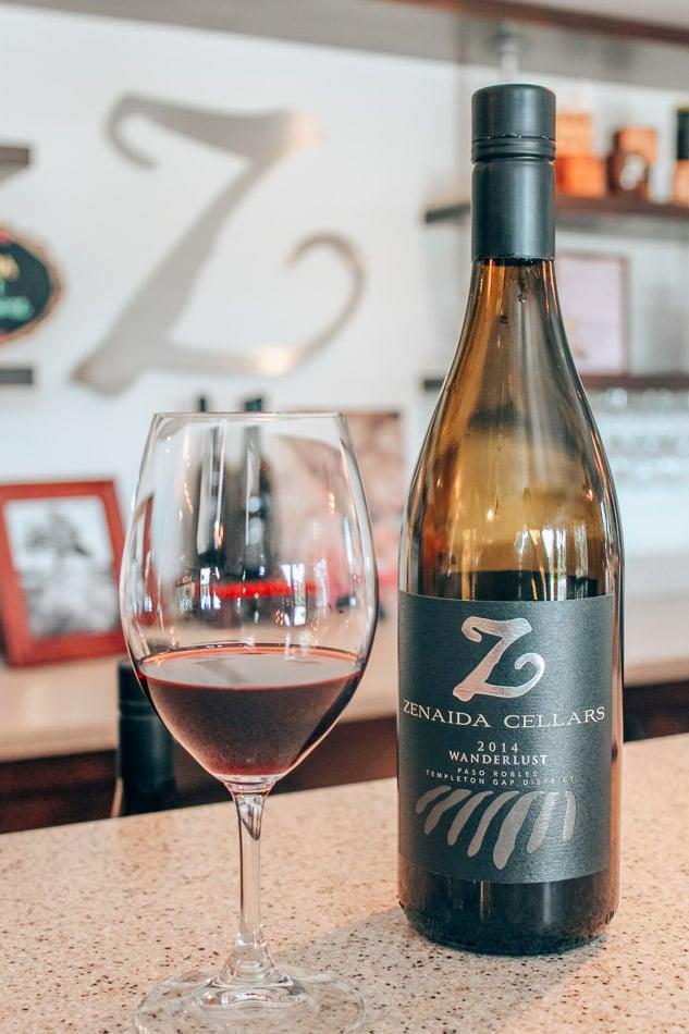 Zenaida Wine Tasting at Zenaida Cellars in Paso Robles, California