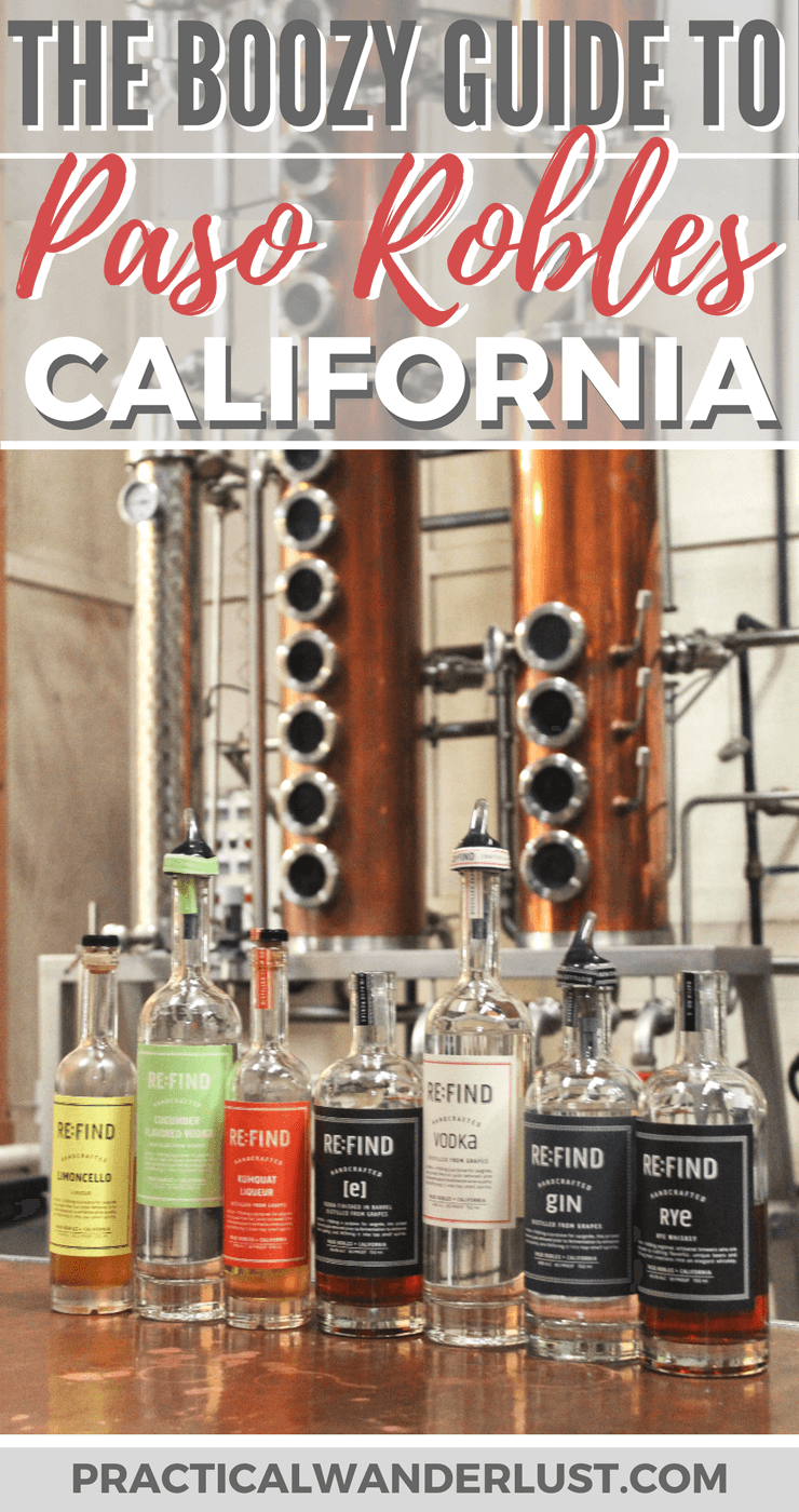 Wineries, distilleries, craft breweries, and more in Paso Robles, California! One of the best United States destinations for booze tourism. Plus: where to eat, where to stay, and where to get coffee on California's Central Coast wine country travel destination!