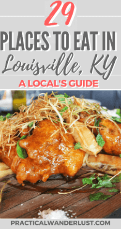 A local's foodie guide to Louisville, Kentucky USA! The best brunch, lunch, dinner, dessert and coffee in Louisville, Kentucky. Plus famous Kentucky foods and the best places to eat in Louisville. Don't skip Louisville as part of your USA travel plans!