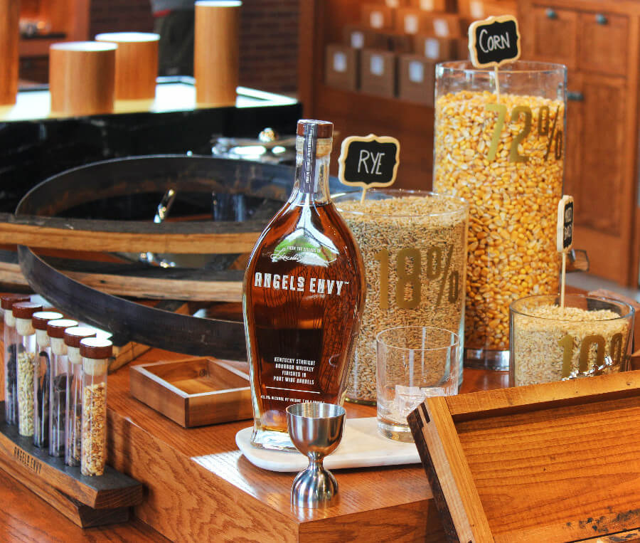 Bourbon tasting is a must-do activity when you're in Kentucky. Conveniently, you can visit several bourbon distilleries without leaving Louisville! One of our faves is Angel's Envy in the heart of downtown Louisville.