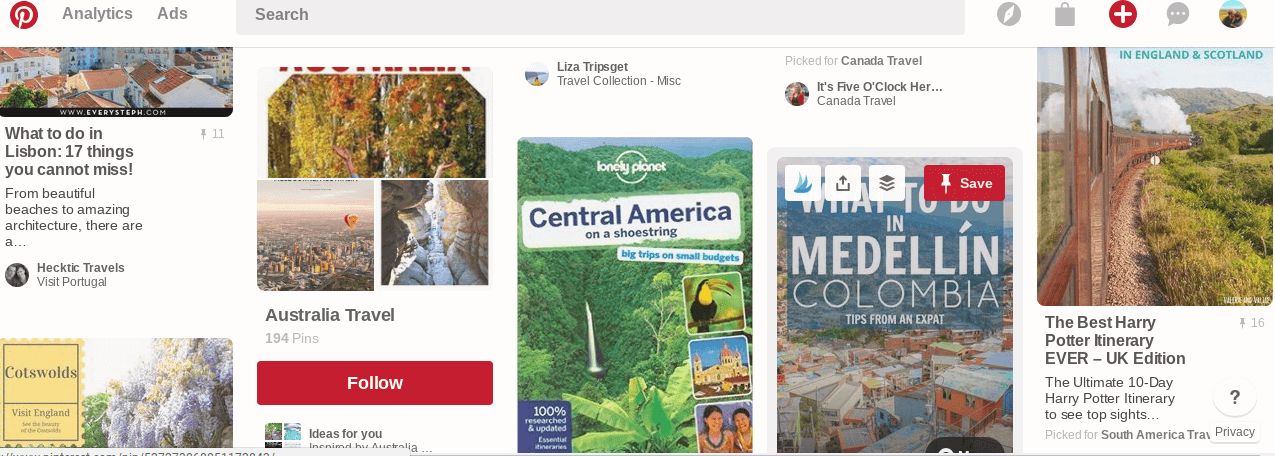 Here's an example of the Pinterest algorithm at work, serving up suggested boards for me to follow right on my front page. Understanding and appealing to the Pinterest algorithm is a key to success of Pinterest.