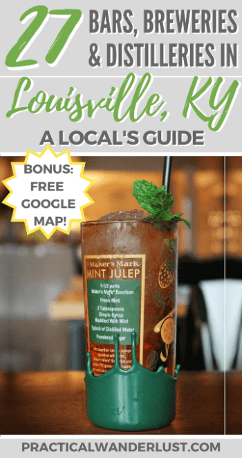 Louisville, Kentucky, USA: Home of bourbon whiskey... and a lot more! A local's guide to the 27 best breweries, bars, and distilleries in Louisville, KY. The perfect destination for booze tourism!