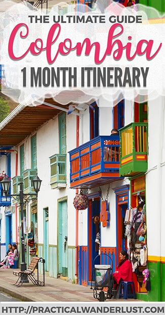 Planning a trip to Colombia? We spent 1 month backpacking in Colombia and fell in LOVE with this amazing country. It was our favorite South America travel destination! Here's a super detailed 1 month itinerary for backpacking in Colombia, including Cartagena, Minca, Santa Marta, Parque Tayrona, San Gil, Medellin, Salento, and Bogota. Make Colombia your next vacation destination!