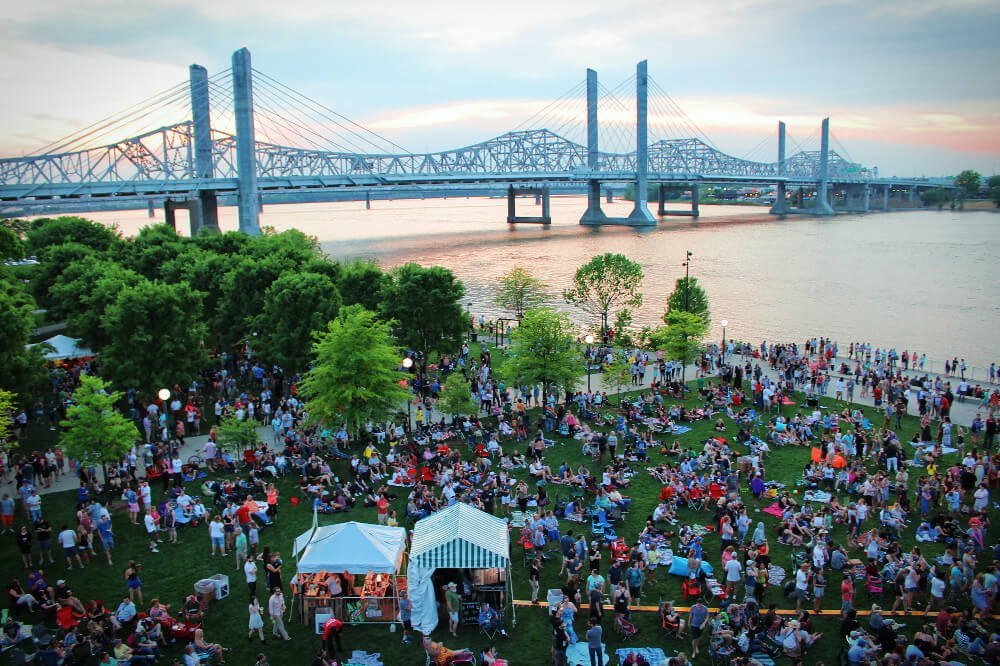 Waterfront Wednesday is a free waterfront concert that runs regularly during the summer in Louisville, Kentucky.