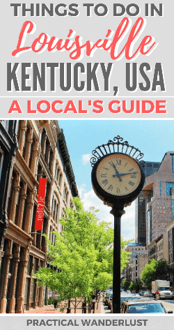 Louisville, Kentucky is an amazing destination in the Midwest USA to explore! What to do in Louisville, places to visit in Louisville, attractions in Louisville, where to go in Louisville, what to do in Louisville. Take a road trip or weekend trip to explore Kentucky!