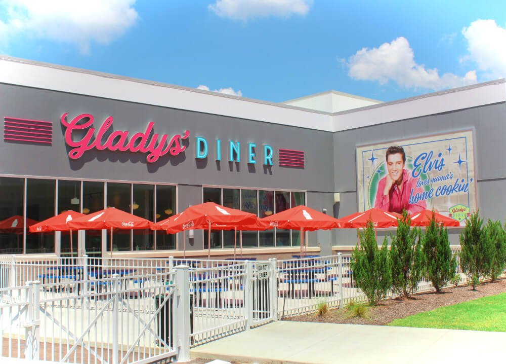 Gladys' Diner at Graceland, Elvis Presley's home in Memphis, Tennessee.