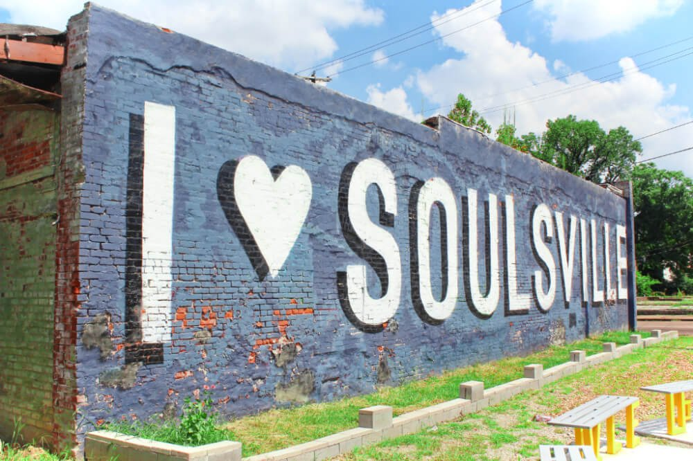 Memphis, Tennessee is the home of rock n' roll, the blues, and soul music! The neighborhood around historic Stax Records in Memphis is called Soulsville.