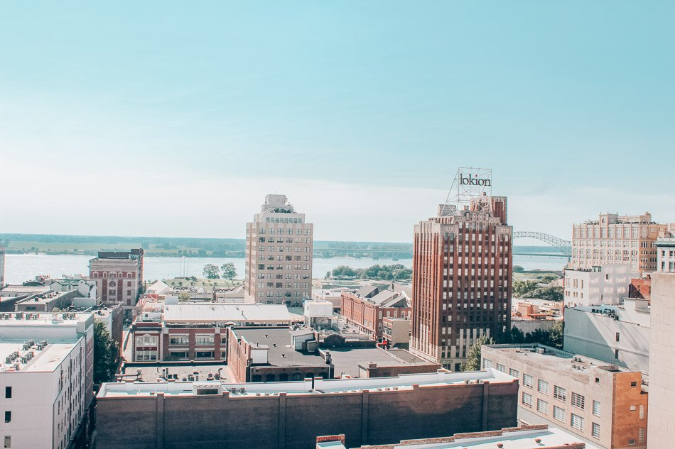 Downtown Memphis, Tennessee. Memphis is the home of rock n' roll, soul, and the blues, not to mention a national BBQ hot spot an an important piece of the USA's Civil Rights history.