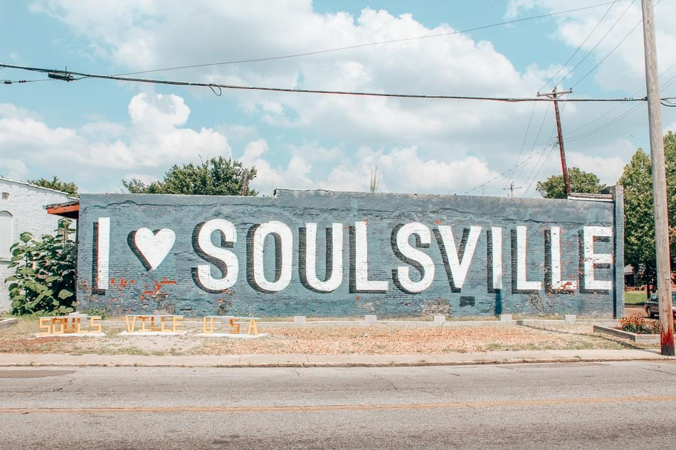 I Love Soulsville Mural in Memphis, Tennessee.