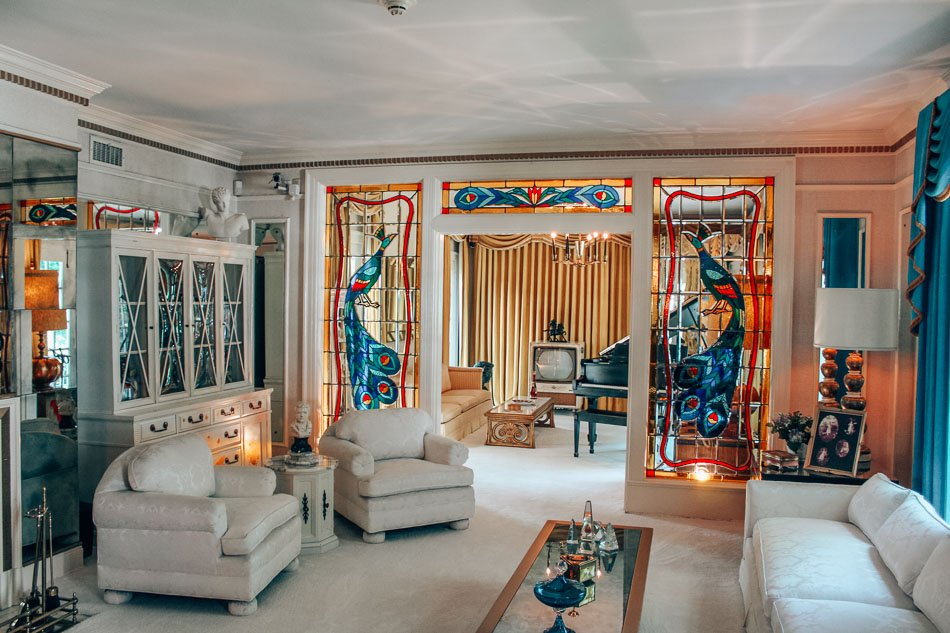 Living room in Graceland, Tennessee