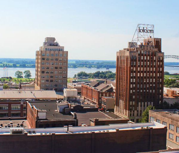Downtown Memphis, Tennessee. Memphis is the home of rock n' roll, soul, and the blues, not to mention a national BBQ hot spot and a fascinating historical destination for anyone interested in Civil Rights!
