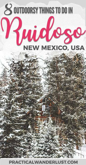 Ruidoso, New Mexico is an outdoor lover's paradise! This mountain town is a USA travel destination for anyone who loves adventure, hiking, camping, fishing, staying in cabins, mountains, and that yummy pine smell. Here are the best outdoorsy things to do in Ruidoso, New Mexico! United States Travel | Adventure Travel | New Mexico Travel | Things to do in New Mexico | Things to do in Ruidoso | Ruidoso Food | Southwest Travel Destinations | US Southwest Travel | USA Travel Destinations