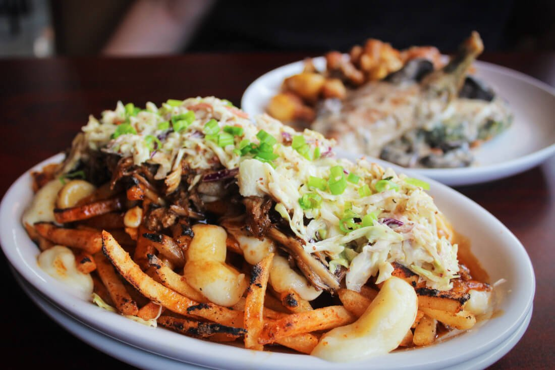 Poutine at Railgarten, a restaurant in Memphis, Tennessee