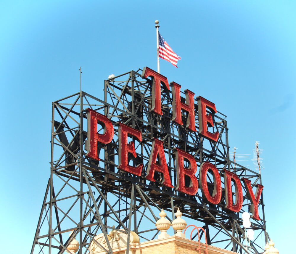 The Peabody Hotel, a famous boutique hotel in Memphis, Tennessee!
