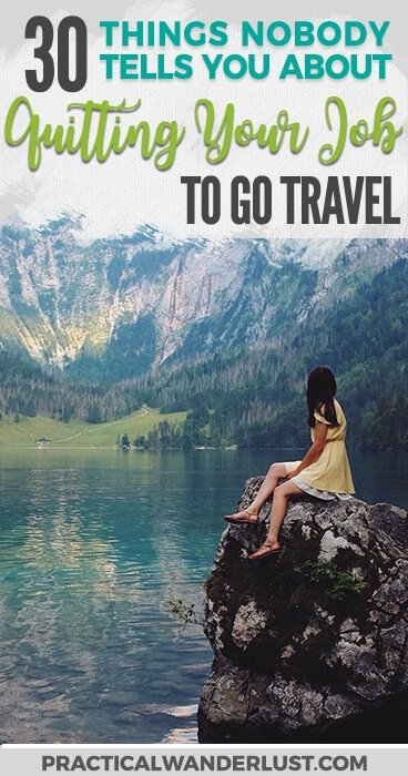 We quit our jobs to go travel for a year. And it was nothing like what we expected. Here's what nobody tells you about quitting your job to take a grown up gap year! #travel #travelblogging