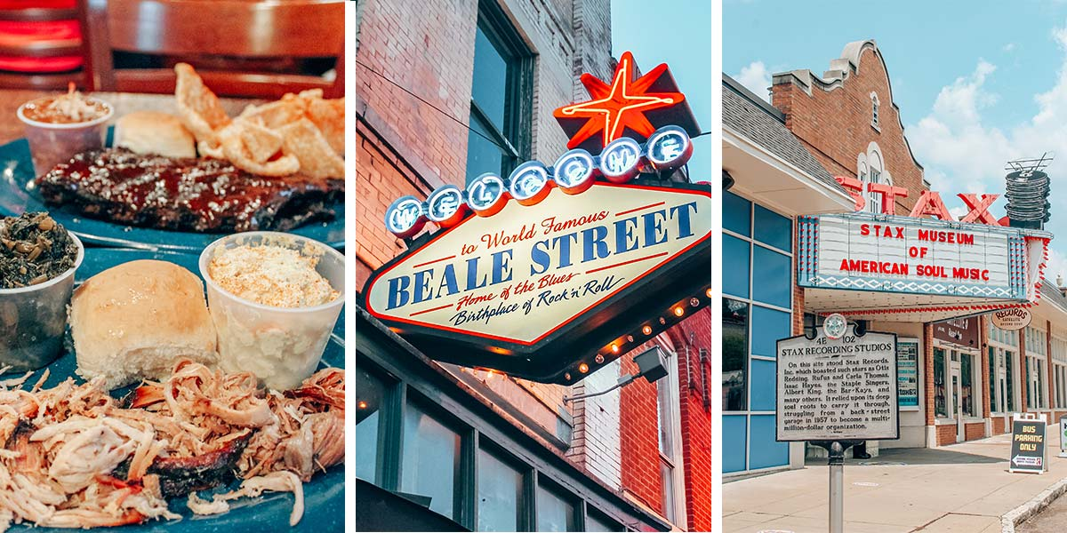Downtown Memphis, Tennessee. Memphis is the home of rock n' roll, soul, and the blues, not to mention a national BBQ hot spot and an important historical city. Plus, it's super weird. Find out why we love this city on a weekend in Memphis!