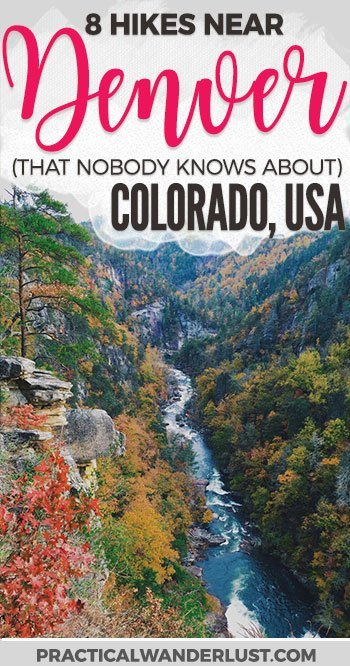 Crowded trails suck. Luckily, there are a lot of beautiful hiking trails near Denver, Colorado that are totally undiscovered! Avoid the crowds and head to these hidden gem hiking trails near Denver. Hiking near Denver   Colorado hiking trails   USA Travel Destinations   Things to do in Colorado   Things to do in Denver   Day trips from Denver   #Denver #Colorado #Hiking