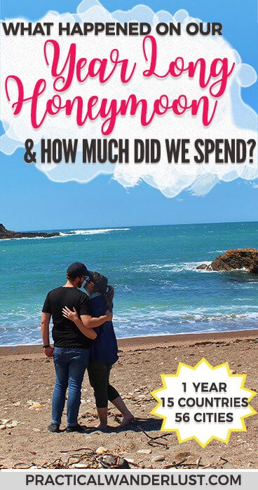 Our year long honeymoon is officially over! So ... what happened? And how much did it all cost? 1 year, 15 countries, 56 cities, and 1 faked death later ... Here's all the juicy details from our year long trip.