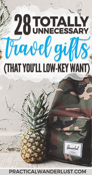 28 completely unnecessary travel gifts that you definitely don't need but kinda want someone to buy you for Christmas. Funny travel gag gifts that you low-key totally want! #TravelGifts #GiftGuide #Funny