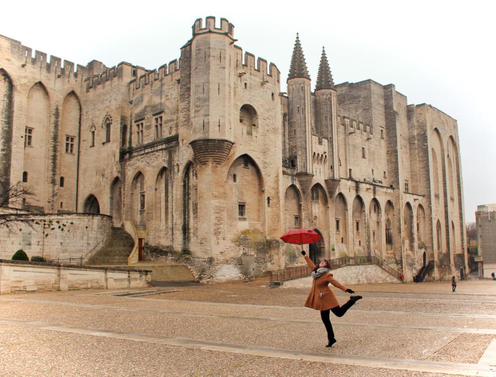 Avignon, France in the winter.