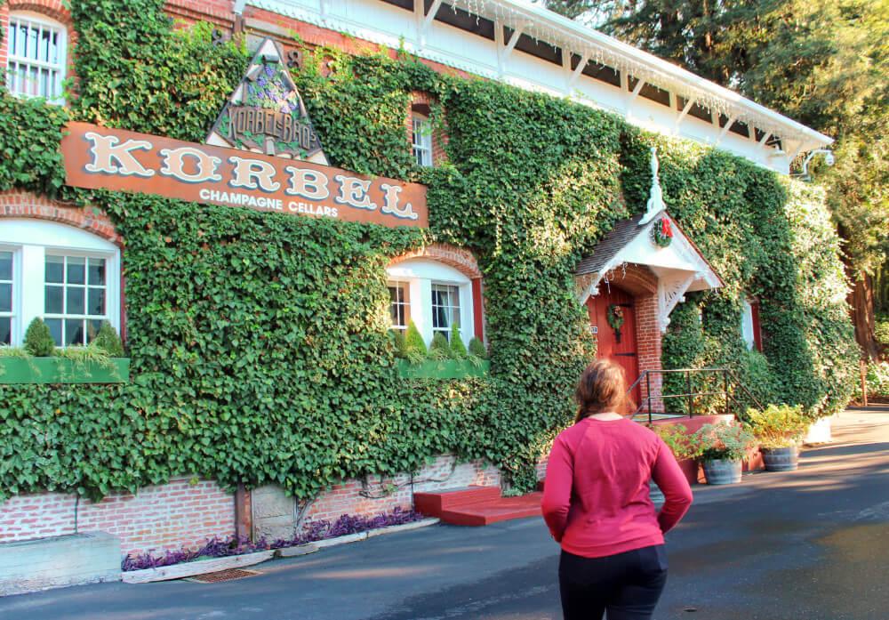 Korbel Champagne Cellars in Guerneville, California