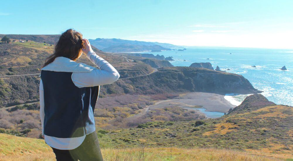 Admiring the view along the Northern part of Highway One! The California coastline is freaking stunning.