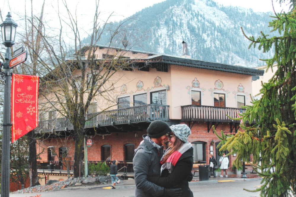 Lia and Jeremy from Practical Wanderlust in Leavenworth, Washington