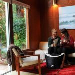Relaxing in our stunning, romantic cabin from Glamping Hub in Guerneville, California near the Russian River.