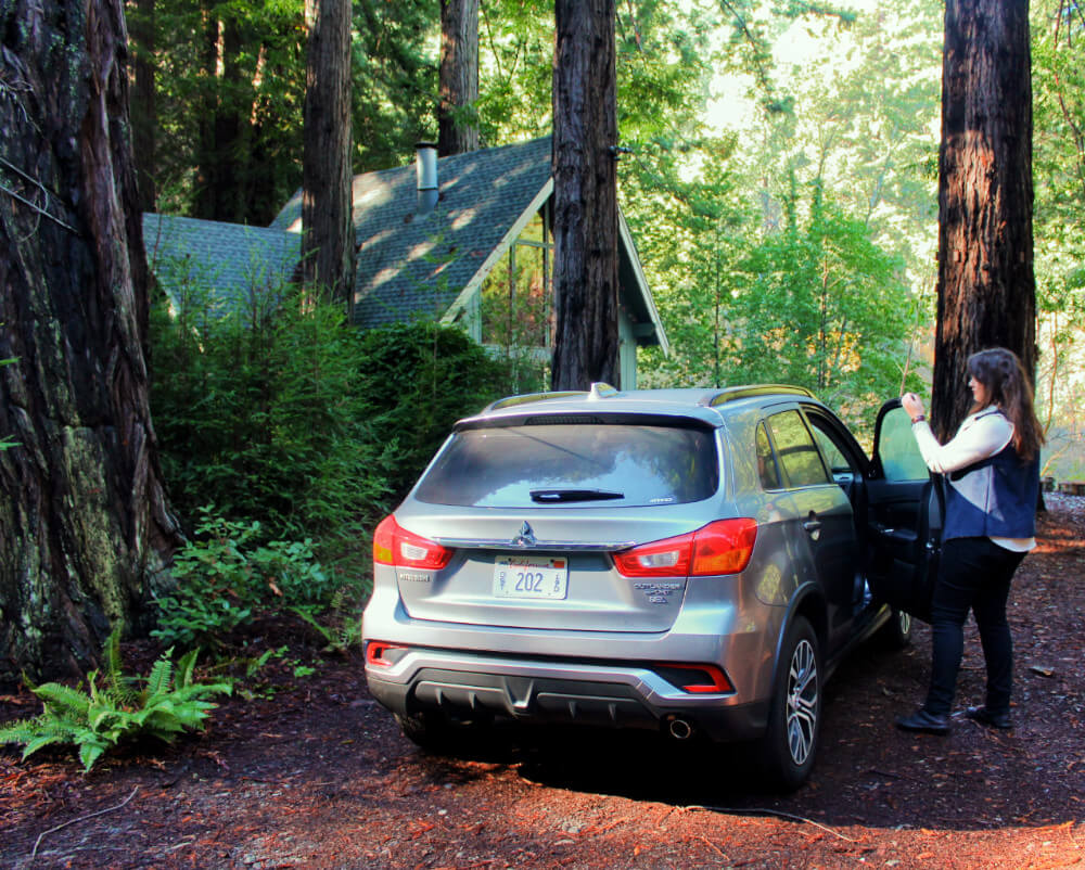 2018 Mitsubishi Outlander in the redwoods in Northern California
