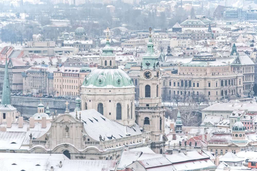 Beautiful, snowy Prague in December!