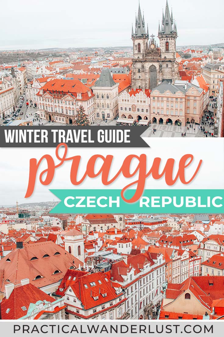 Prague in the winter is a Christmas dream. There are tons of things to do in Prague in winter, and plenty of Prague attractions are open (including Christmas Markets!) Here's a complete Prague winter travel guide for your trip to the Czech Republic. #EuropeTravel #Prague #WinterTravel #holiday