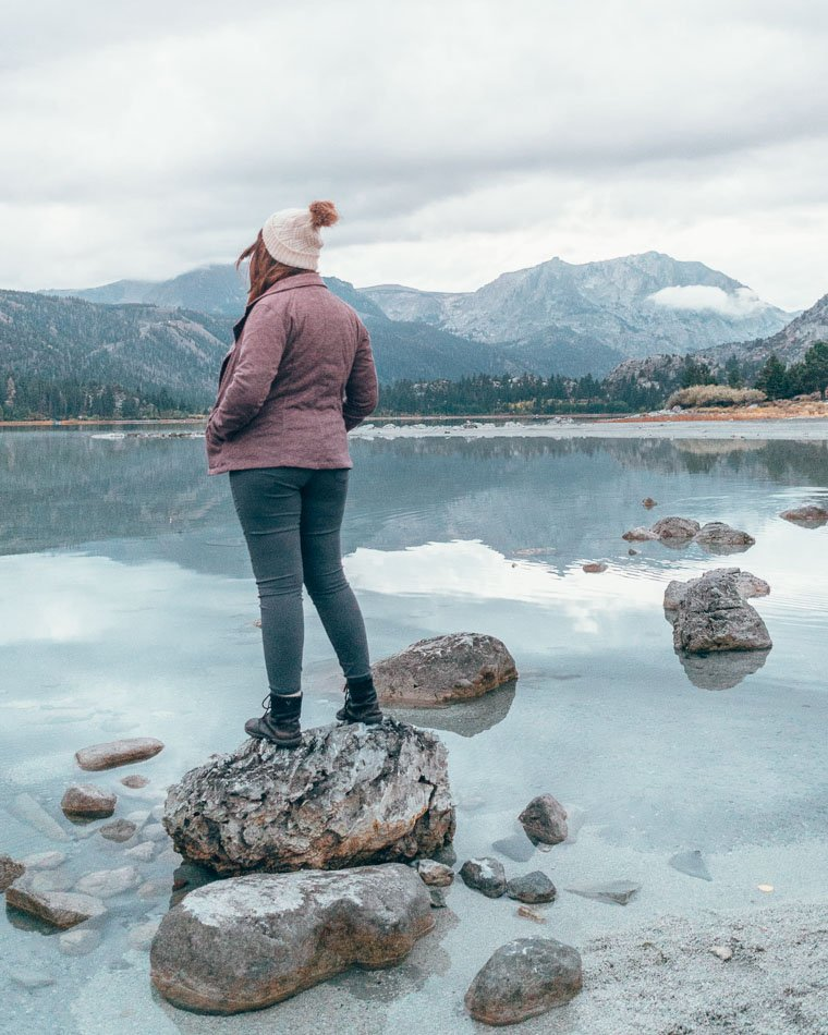 Rockin' the prAna Briann pant on a chilly morning in Yosemite! These are the perfect winter pants for women.
