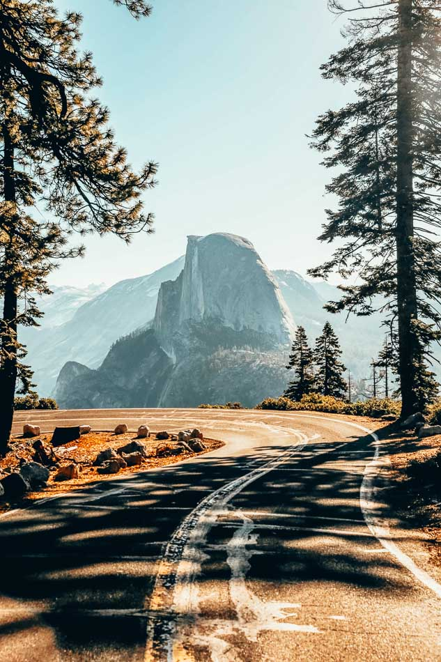 View of Half Dome from Glacier Point Road