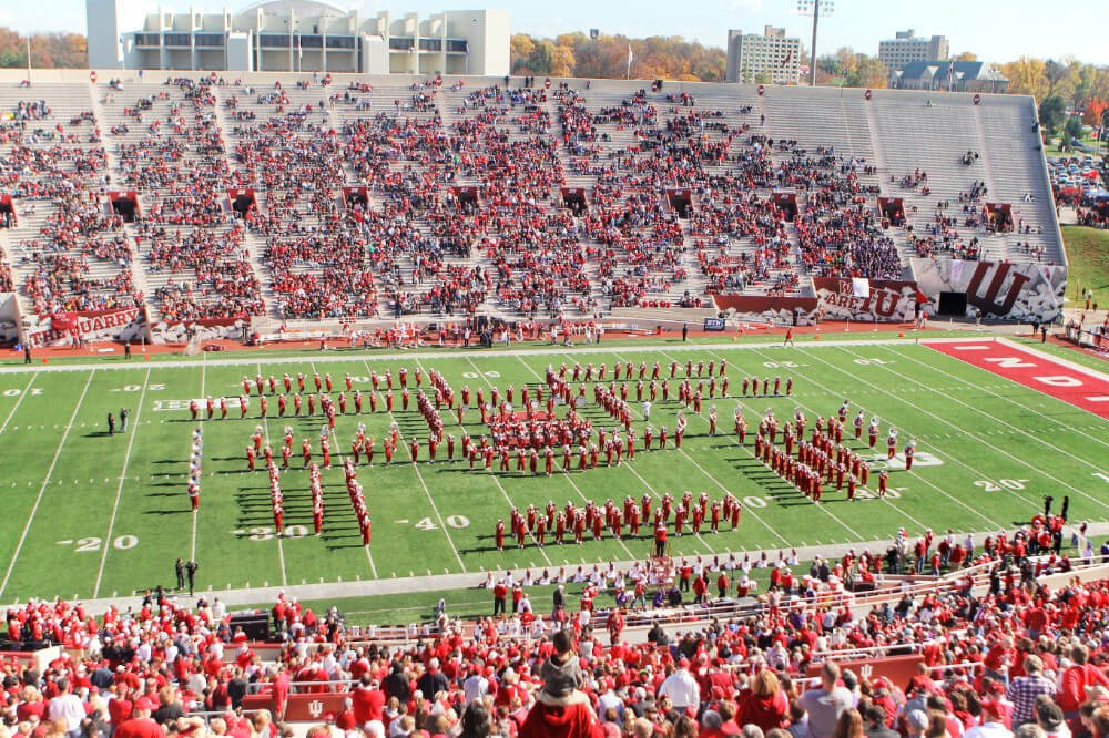 Catching a football game at Indiana University is one of the most fun ways to spend a day in Bloomington, Indiana on a weekend getaway!
