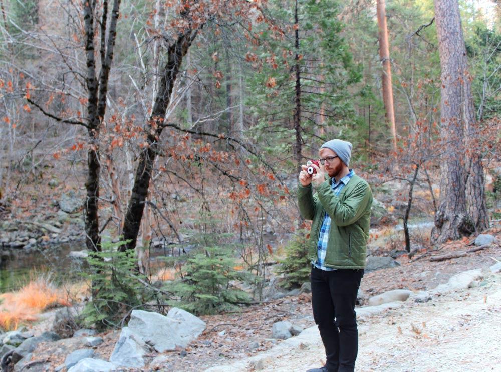 Jeremy taking photos in Yosemite National Park, California.