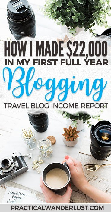 I earned $22,000 in my first full year of travel blogging. Here's how I earned it, and how you can monetize your blog, too! How to monetize your blog | Blogging for money | Travel blogging tips | Blogging income reports | Blogging income tips | Travel blog income report #blogging #travelbloggingtips #bloggingtips