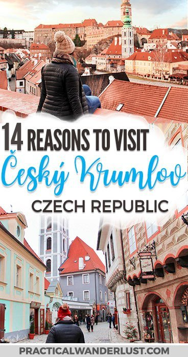 Český Krumlov is a medieval town & UNESCO World Heritage site located in the Bohemia region of the Czech Republic. There's so much to discover in this gorgeous fairytale village (including a beautiful castle)! Here's 14 reasons why it's well worth it to take a trip to Český Krumlov from Prague this winter - and everything you need to know for your visit. Czech Republic | Czech Republic Travel | Europe travel | Bohemia | Europe travel destinations #Europe #Travel