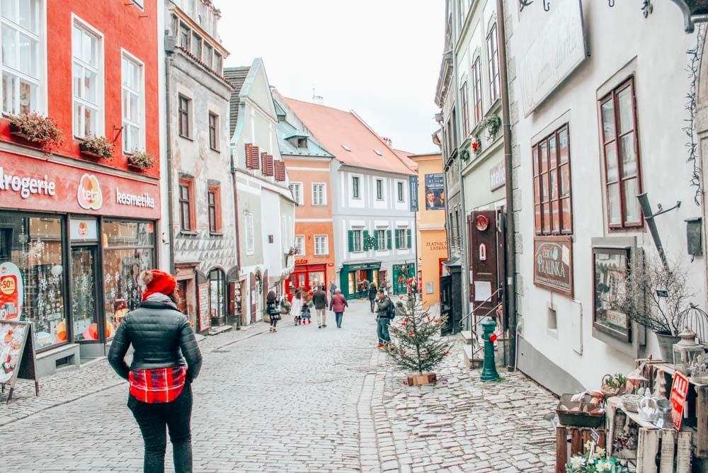 Wandering the streets of Cesky Krumlov in the Bohemia region of the Czech Republic.
