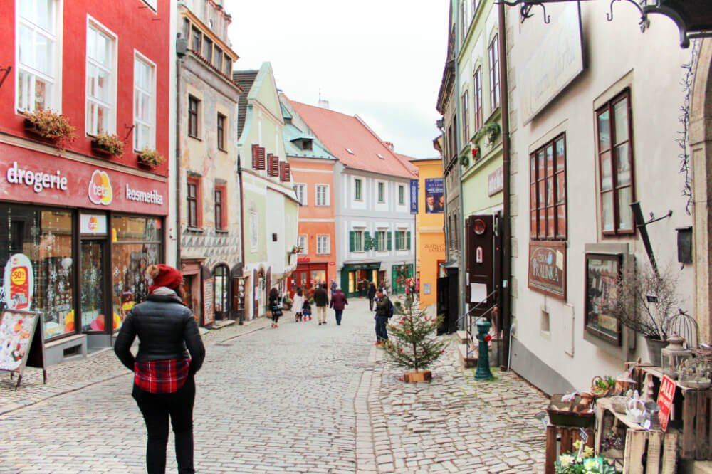 Wandering the streets of Cesky Krumlov in the Bohemia region of the Czech Republic.