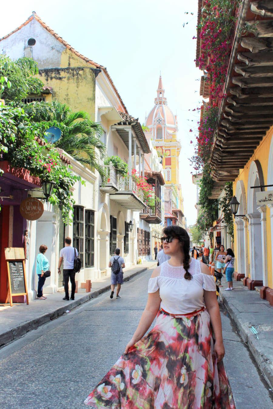 Exploring colorful Cartagena, Colombia.