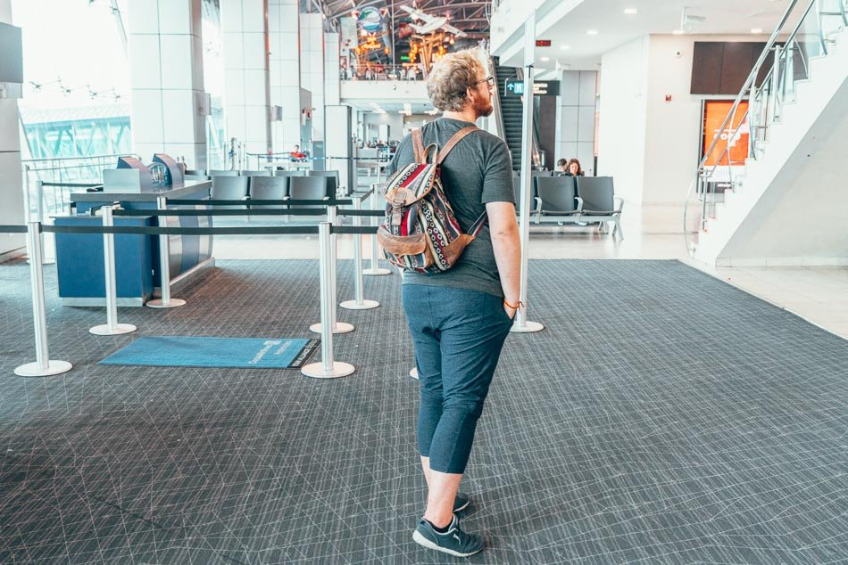 The best men's pants for long flights, the Outdoor Voices CloudKnit Sweatpants.
