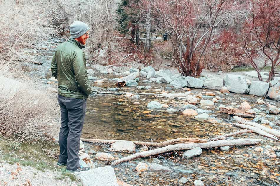 Mens Zion Prana Hiking Pants for Travel in Salt Lake City, Utah.