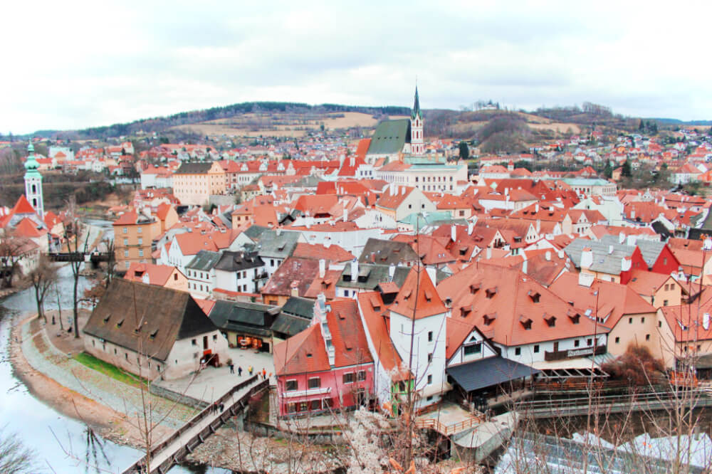 Views of Cesky Krumlov from the castle grounds! The best part about these views? They're absolutely free!