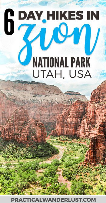 The 6 best Zion National Park Hikes! Zion National Park in Utah is one of the most visited parks in the United States and for good reason. Explore this outdoor adventure wonderland on foot with these epic day hikes, plus everything you need to know in this epic Zion hiking travel guide. #Zion #usnationalparks | Zion National Park Utah USA