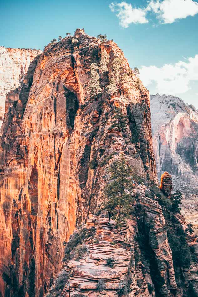 The final ridge on the Angels Landing Hike Zion in National Park.